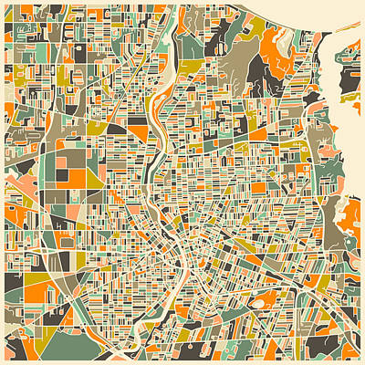 Rochester Map Print by Jazzberry Blue