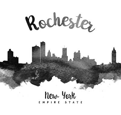 Rochester New York Skyline 18 Print by Aged Pixel