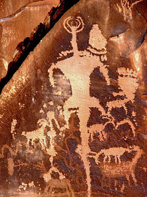 Rock Art Of The Ancients Print by The Forests Edge Photography - Diane Sandoval