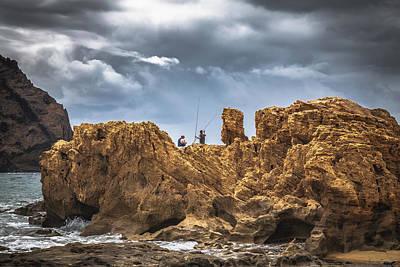 Porto Photograph - Rock Fishing by Chris Fletcher