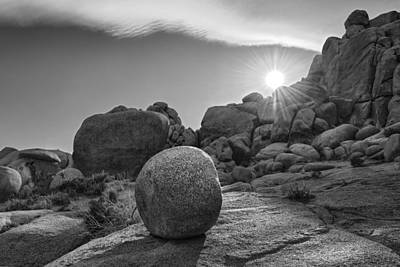 Joshua Tree Photograph - Rock Form With Lenticular Cloud by Gary Zuercher