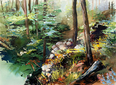 Rock Garden Original by Shirley  Peters