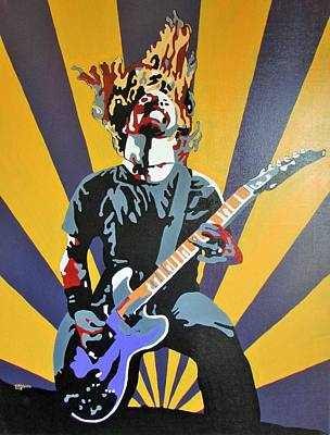 Gig Painting - Rock God by Gary Holden