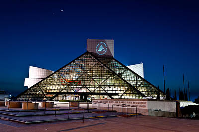 Rock Hall At Night Print by At Lands End Photography