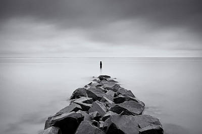 Chesapeake Bay Photograph - Rock Jetty At The Chesapeake Bay by MariAnne MacGregor