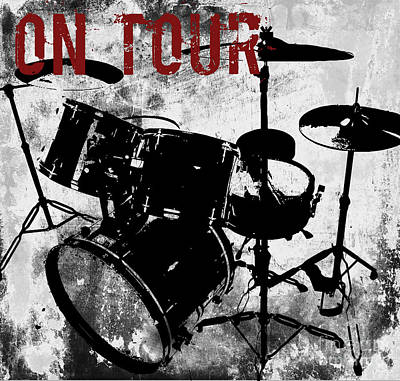 Rock N Roll Percussion  Print by Mindy Sommers