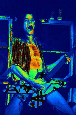 Rock 'n' Roll The Cosmic Blues Print by Ben Upham