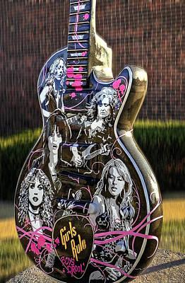 Rock N Roll...girls Rule Print by Deborah Klubertanz