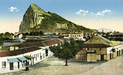 Rock Of Gibraltar Seen From La Linea De Print by Vintage Design Pics
