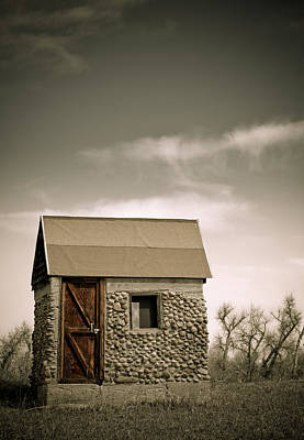 Rock Shed Print by Marilyn Hunt