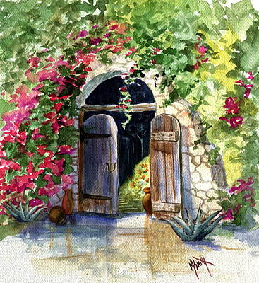 Southwest Gate Painting - Rock Springs Gate by Marilyn Smith