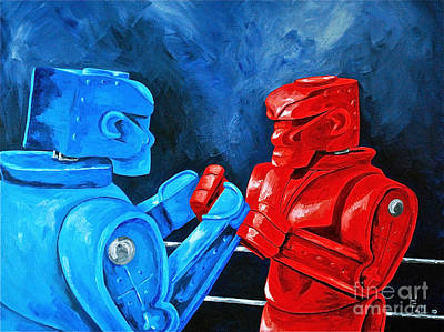 Rockem Sockem 2 The Rematch Print by Herschel Fall