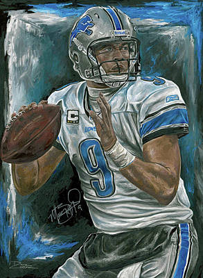 Matthew Stafford Painting - Rocket Arm by David Courson