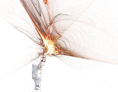 Jet Mixed Media - Rocket Propulsion Ignition by Jan Piller
