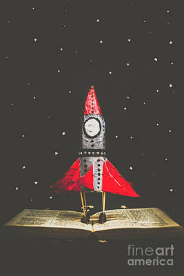 Childrens Book Photograph - Rockets And Cartoon Puzzle Star Dust by Jorgo Photography - Wall Art Gallery