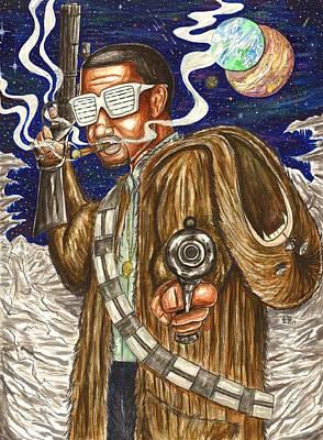 Hop Drawing - Rockin Chewbacca 2 by Silverio Godinez