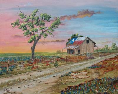 Southwest Gate Painting - Texas Rockin Wildflowers by Michael Dillon