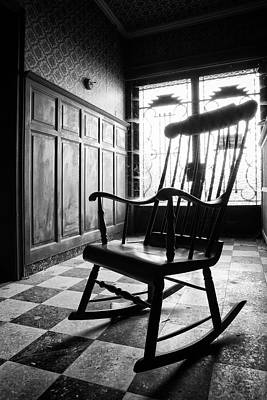 Rocking Chair - Abandoned Building Print by Dirk Ercken