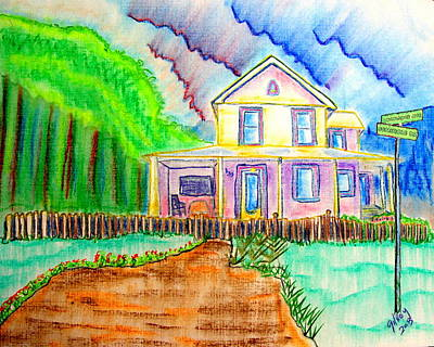 Key West Painting - Rockledge Ave. House by W Gilroy