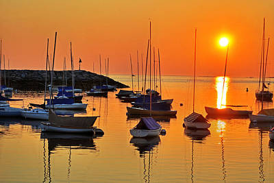 Rockport Ma Boats Rockport Harbor Print by Toby McGuire