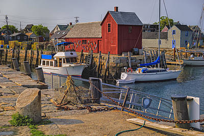 Metal Fish Art Photograph - Rockport Waterfront by Mark Myhaver