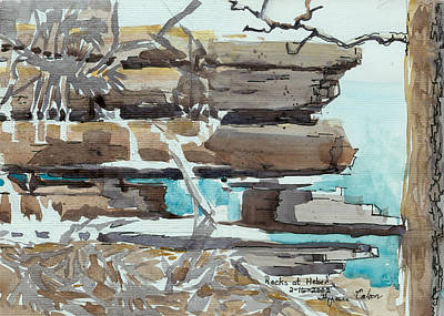 Rocks At Heber Print by Thyrsie Cahoon