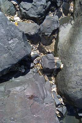 Photograph - Rocks At The Shore 1 by B L Qualls