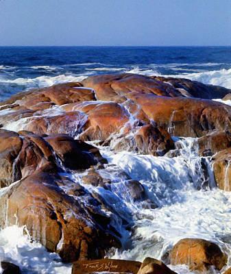 Incoming Tide Photograph - Rocks Awash by Frank Wilson