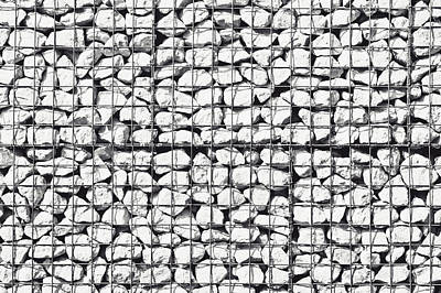 Cage Photograph - Rocks In A Cage by Tom Gowanlock