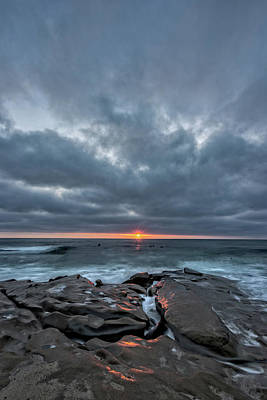 Surf Lifestyle Photograph - Rocks On Fire by Peter Tellone