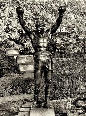 Boxing Digital Art - Rocky Balboa In Sepia by Bill Cannon