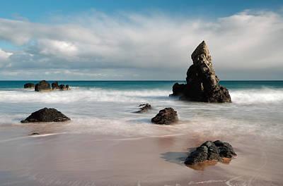 Scotland Photograph - Rocky Beach On Sango Bay by Maria Gaellman