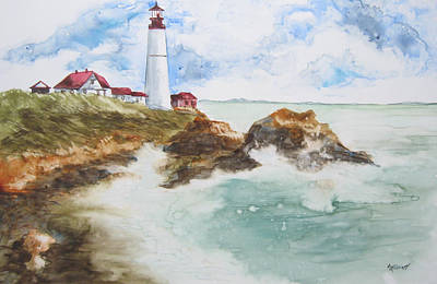 Guides Painting - Rocky Coast by Marsha Elliott