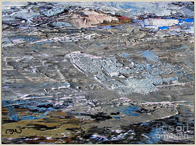 Post Impressionism Mixed Media - rocky Landscape by Pemaro