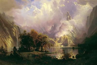 Snow Scene Landscape Painting - Rocky Mountain Landscape by Albert Bierstadt
