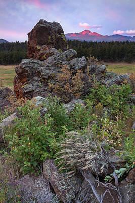 John Hallett Photograph - Rocky Mountain Sunrise by John Vose