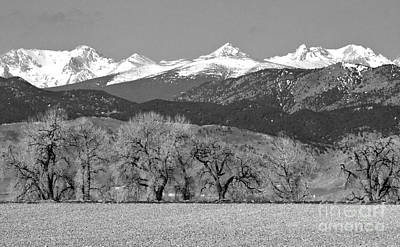 Mountains Photograph - Rocky Mountain View Bw by James BO  Insogna