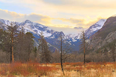 Artprint Photograph - Rocky Mountain Wilderness Sunset View by James BO Insogna