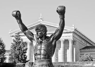 Phillies Art Photograph - Rocky Statue - Philadelphia by Brendan Reals