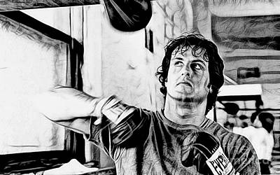 Stallone Mixed Media - Rocky Sylvester Stallone Collection by Marvin Blaine
