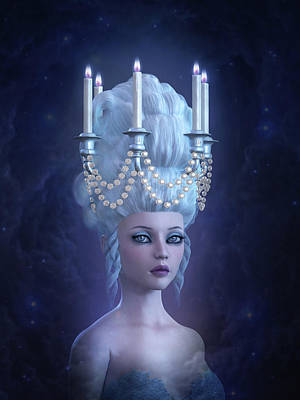 Candle Lit Mixed Media - Rococo Enlightenment by Britta Glodde