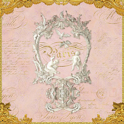 Dove Mixed Media - Rococo Versailles Palace 1 Baroque Plaster Vintage by Audrey Jeanne Roberts
