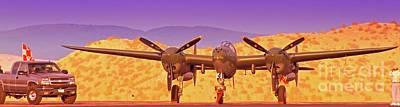 Rod Lewis' Lockheed Lightning  Glacier Girl       Original by Gus McCrea