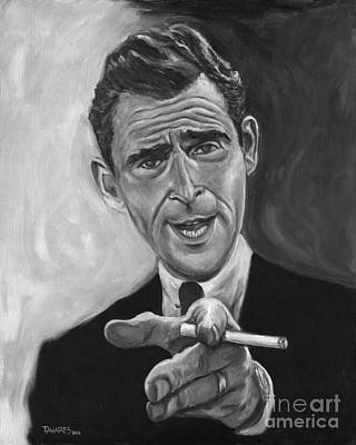 Rod Serling Print by Mark Tavares