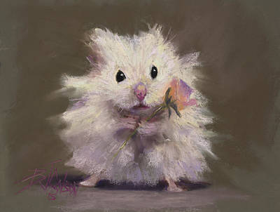 Gerbil Painting - Rodent Romance by Billie Colson