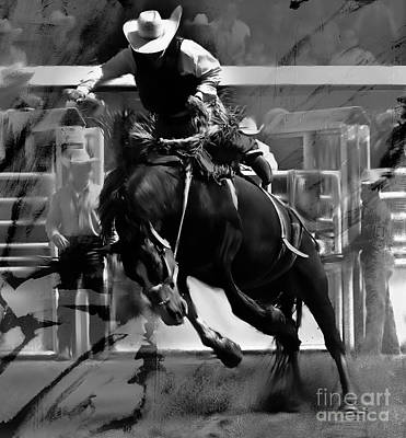 Rodeo Painting - Rodeo 005554 by Gull G