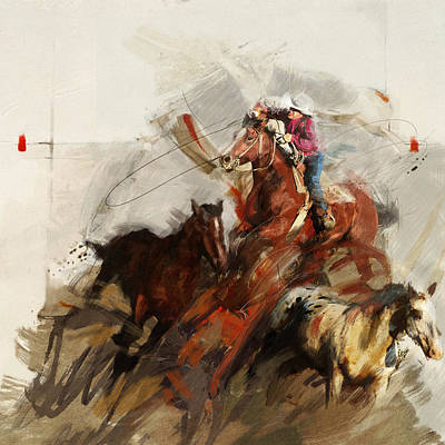Texan Painting - Rodeo 37 by Maryam Mughal