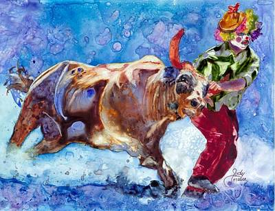Rodeo Clown Painting - Rodeo Clown by Jody O'Meara