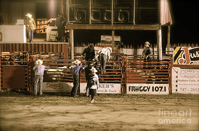 Bull Riders Photograph - Rodeo Night by Jason Freedman