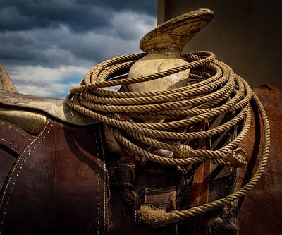 Rodeo Saddle Detail Print by Jean Noren
